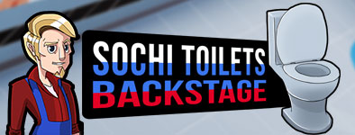 Play free game Sochi Toilets : Backstage