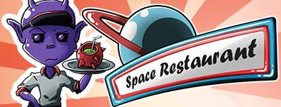 Play free game Space Restaurant