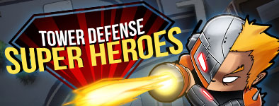Play free game Tower defense : Super heroes