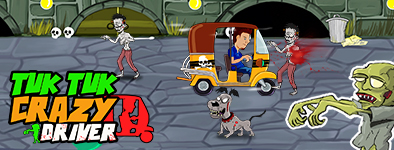 Play free game Tuk Tuk Crazy Driver