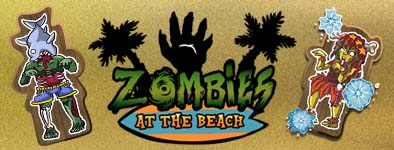 Play free game Zombies at the beach